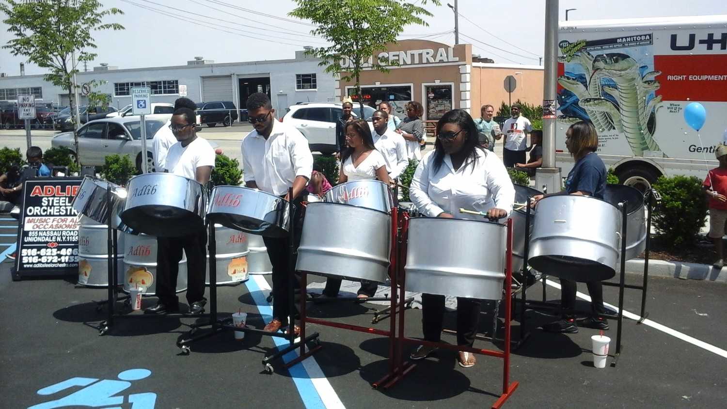 "Adlib Steel Orchestra played a number of Top 40 radio hits, like ""Rude"" by Magic! on their steel drums during Burger King's grand opening."