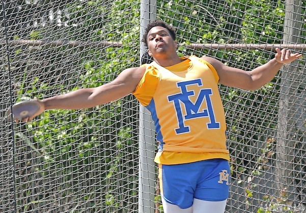 Senior T'Shyne Johnson won the Division 1B titles in both the discus and shot put to help the Jets finish on top.