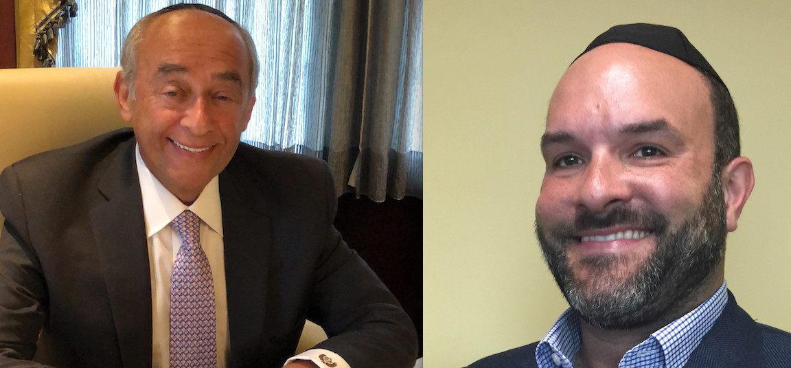 Lawrence Mayor Alex Edelman, left, defeated Deputy Mayor Michael Fragin.