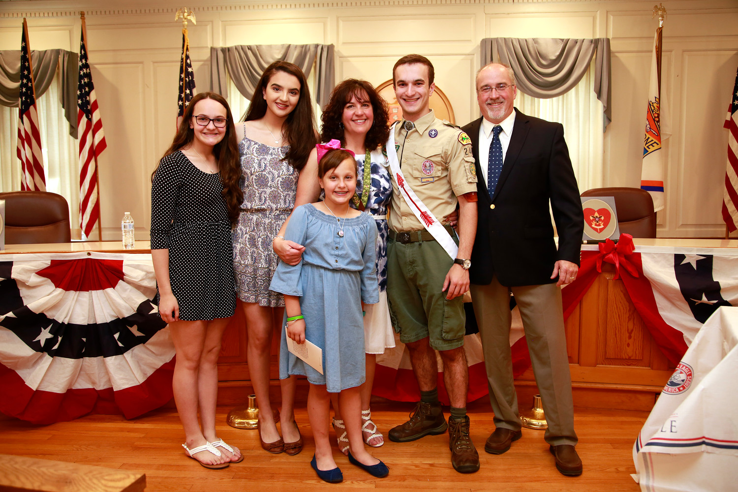 Boy Scout Thomas James Callahan celebrated becoming an Eagle Scout with his family on June 9.
