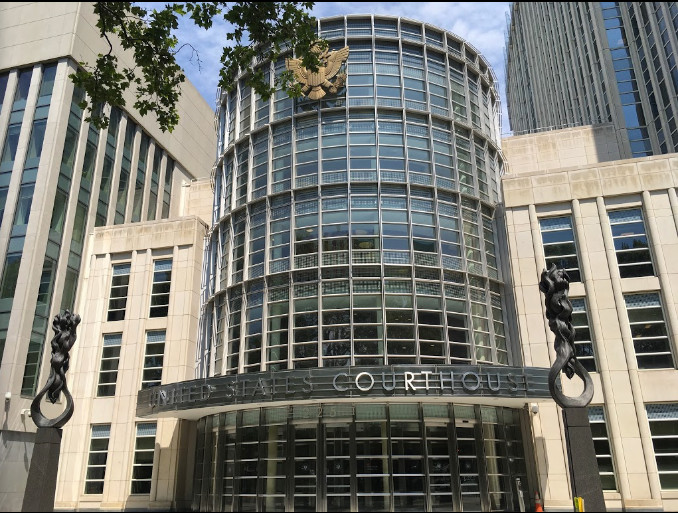 The Eastern District of New York has charged Lawrence resident Mark Weissman and Rabbi Igal Haimoff, of Flushing, with extorting $7 million from an unidentified person. Above, the U.S. Courthouse in Brooklyn.