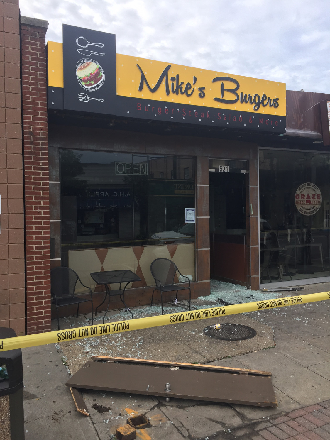 Mike's Burgers at 531 Central Ave. in Cedarhurst was severely damaged by fire on June 20.