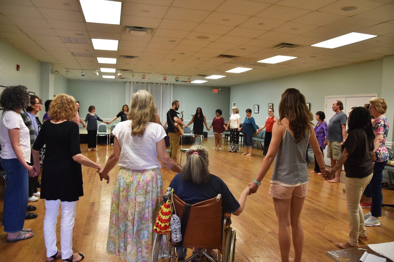 About 50 people turned out for the Baha'i Center's first ever Dances of Universal Peace on June 9.