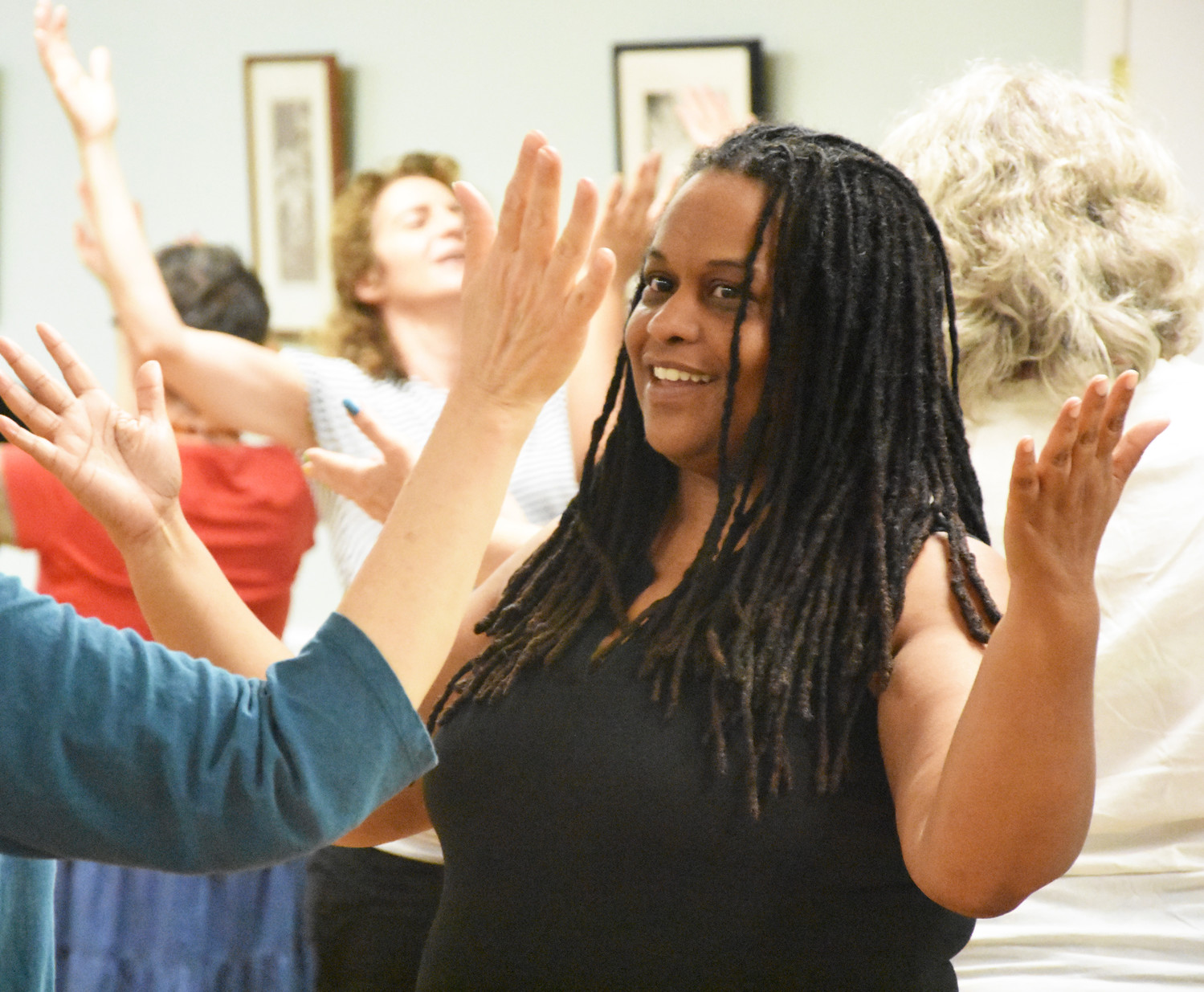 Michelle Chamblin danced during the first ever dances for peace at the Baha'i Center.