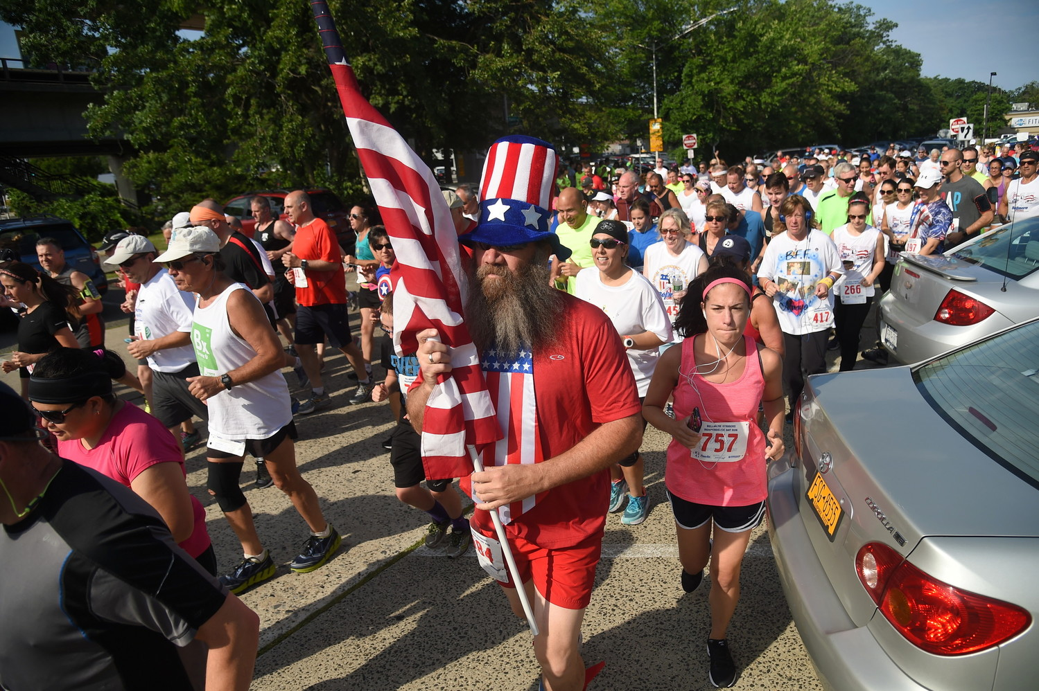 The Bellmore Striders Independence Day Run is always a colorful affair.