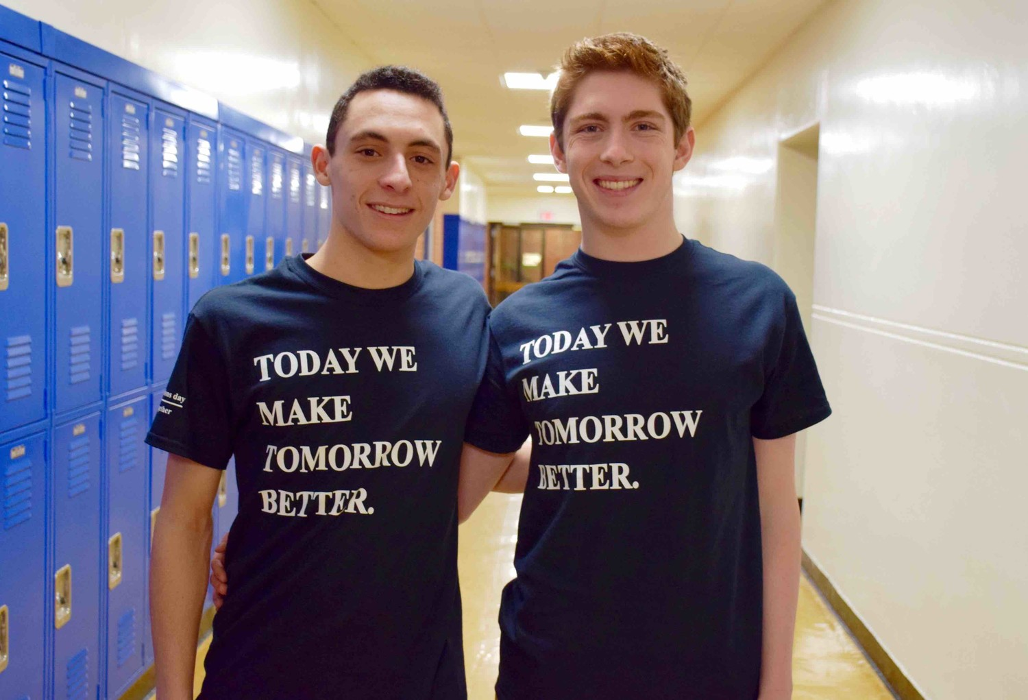 Dustin Mandell, left, and Jack Hunter were named valedictorian and salutatorian, respectively, for Lynbrook's class of 2018.