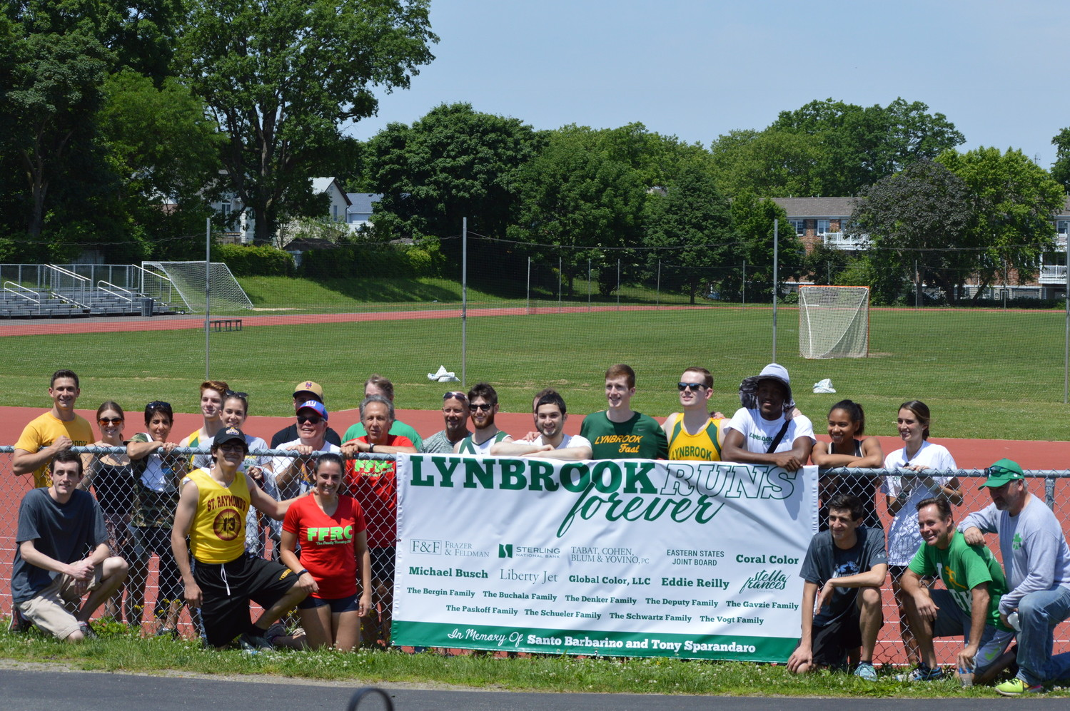 The inaugural Lynbrook alumni track meet was held on June 9 at South Middle School and raised $2,000, which will go toward scholarships for students on the track and cross country teams.