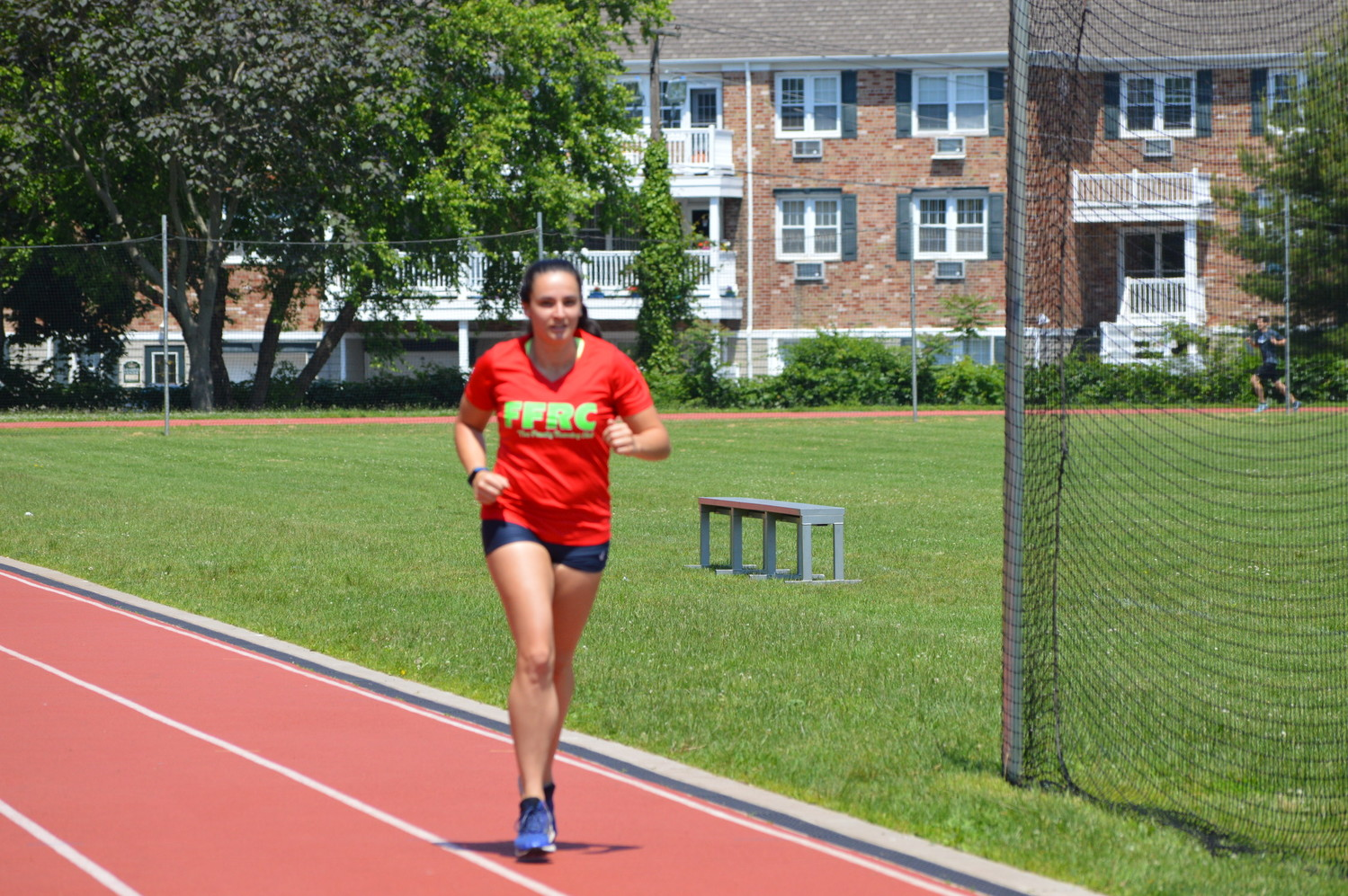 Rose Paskoff, a Lynbrook All-County athlete in 2013, finished the 400-meter race.