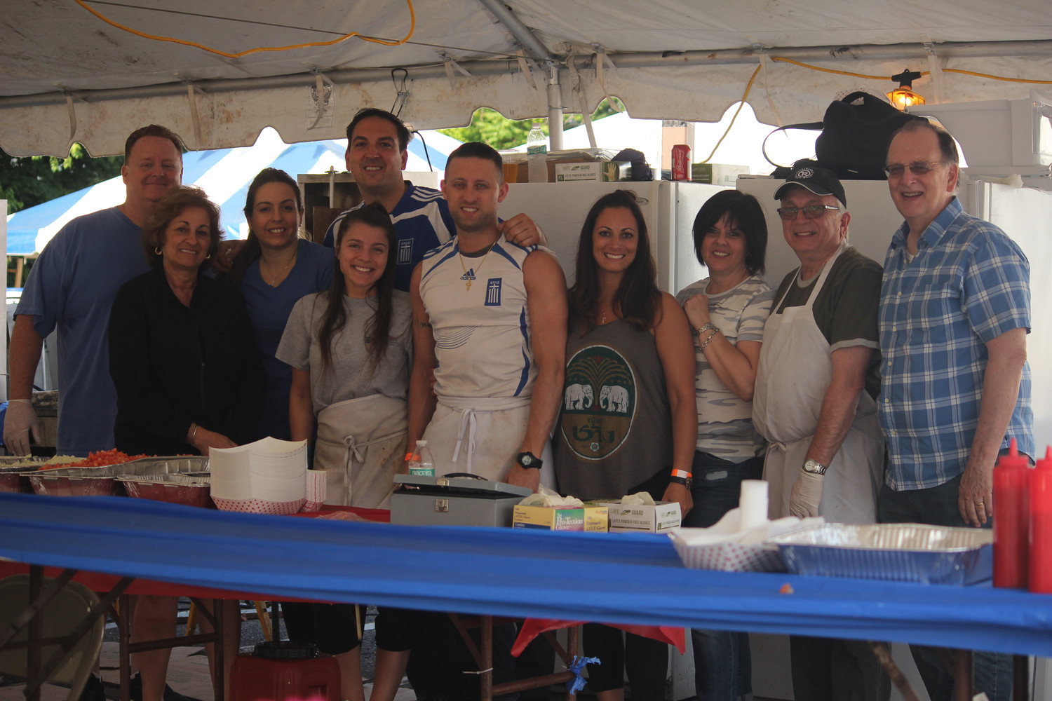 The Kallinikos family of Tower's Funeral Home served up some Greek treats at their tent.