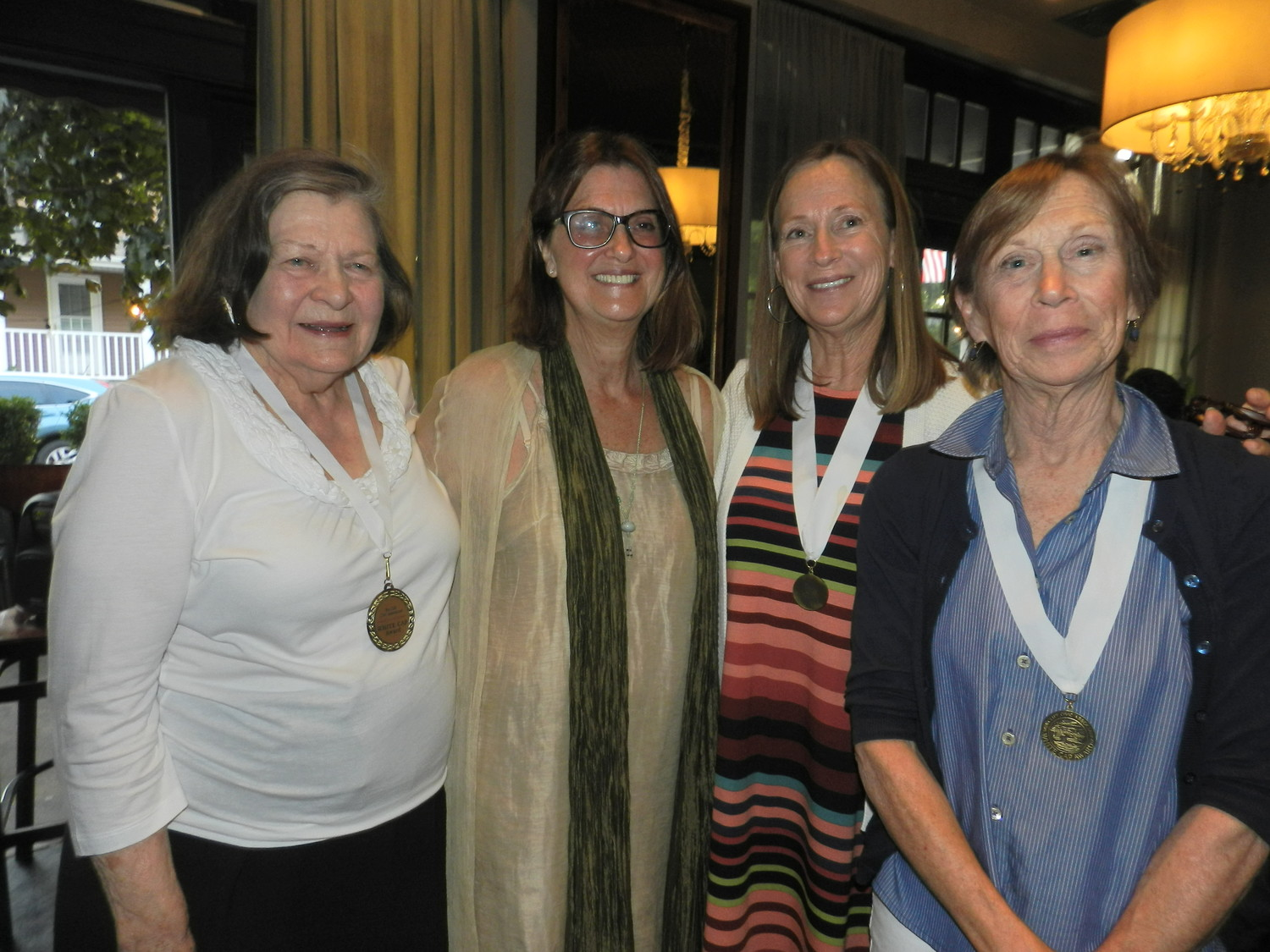 Estelle Moore, left, was nominated by her friends Beth Greenberg, Laura Kavanaugh and Gwynne Lennon.