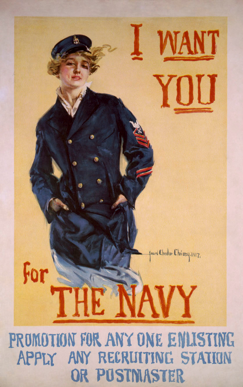 A Vintage recruiting poster. Despite rising tuition costs, military recruiters face dwindling pools of prospects.