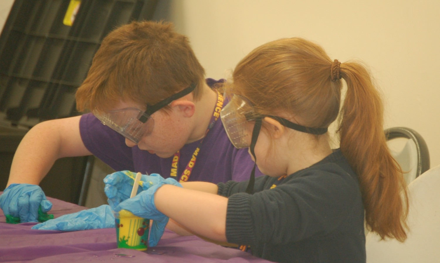 Campers examined the changing of a liquid to a solid and the process it undergoes.
