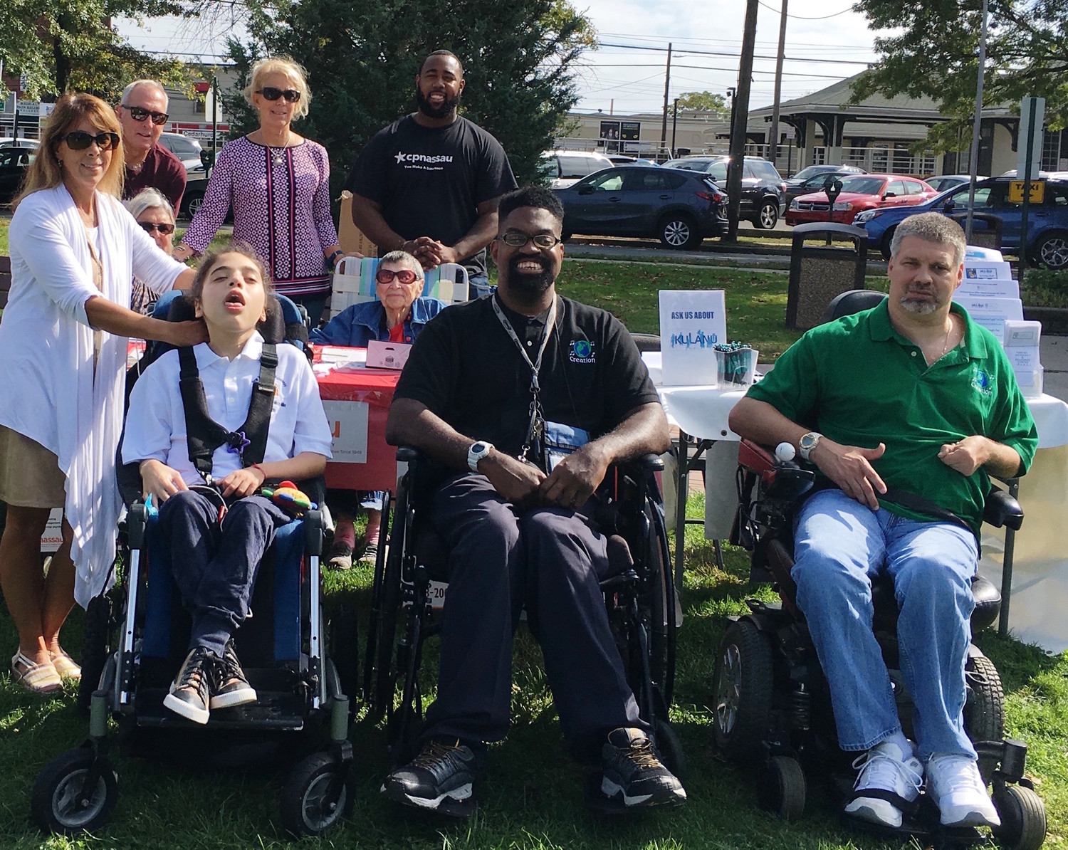 Andrew J. Parise Cedarhurst Park will again play host to the Disability Fair. At last year's event were, from left, Assemblywoman Melissa Miller, her son, Oliver, and Cerebral Palsy Association of Nassau County members David Tindal and Chris Wawrznoek.