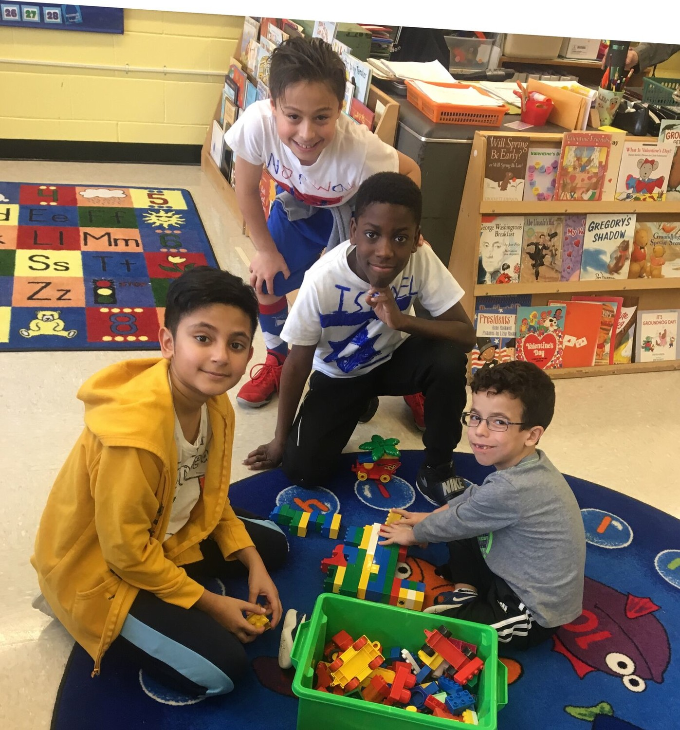 Students in the Buddy Club built Legos while fostering friendships.