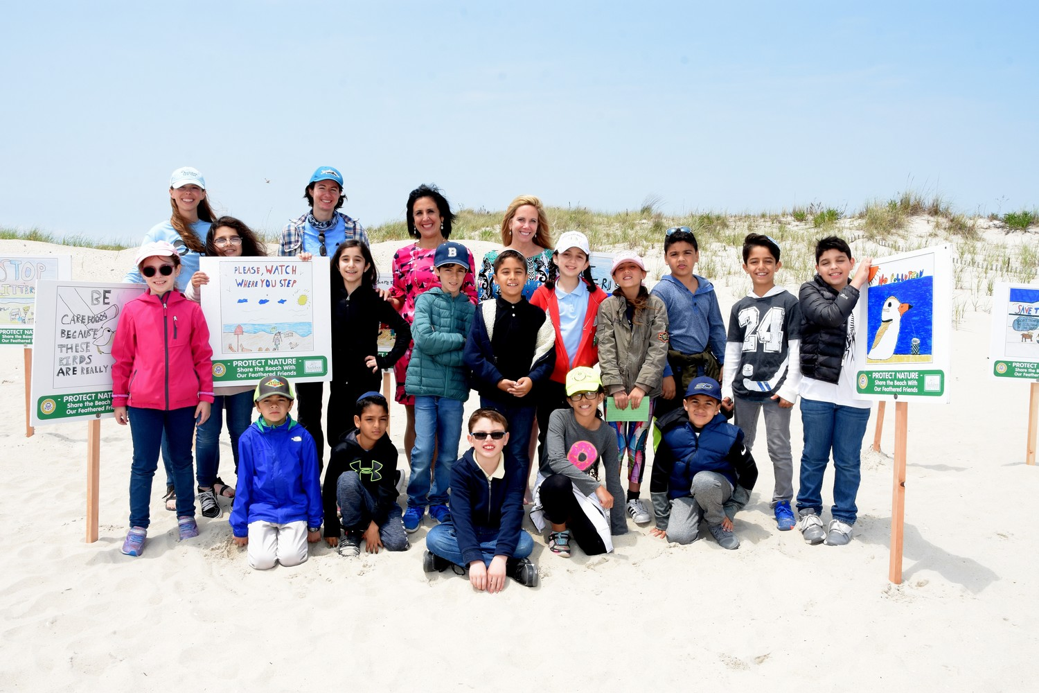 Piping plovers could be helped by awareness billboards created by Brandeis School students that were installed at Lido Beach by the Town of Hempstead.