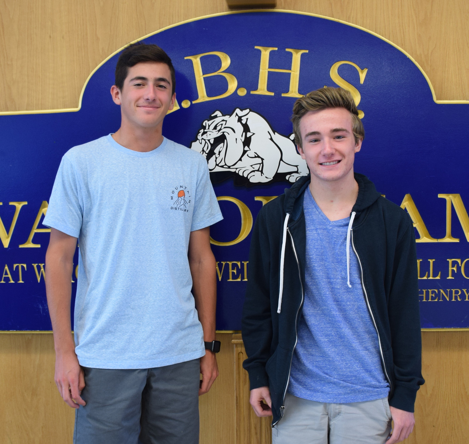 Dillon Razler, left, and Patrick Morris were named the Class of 2018's valedictorian and salutatorian, respectively.