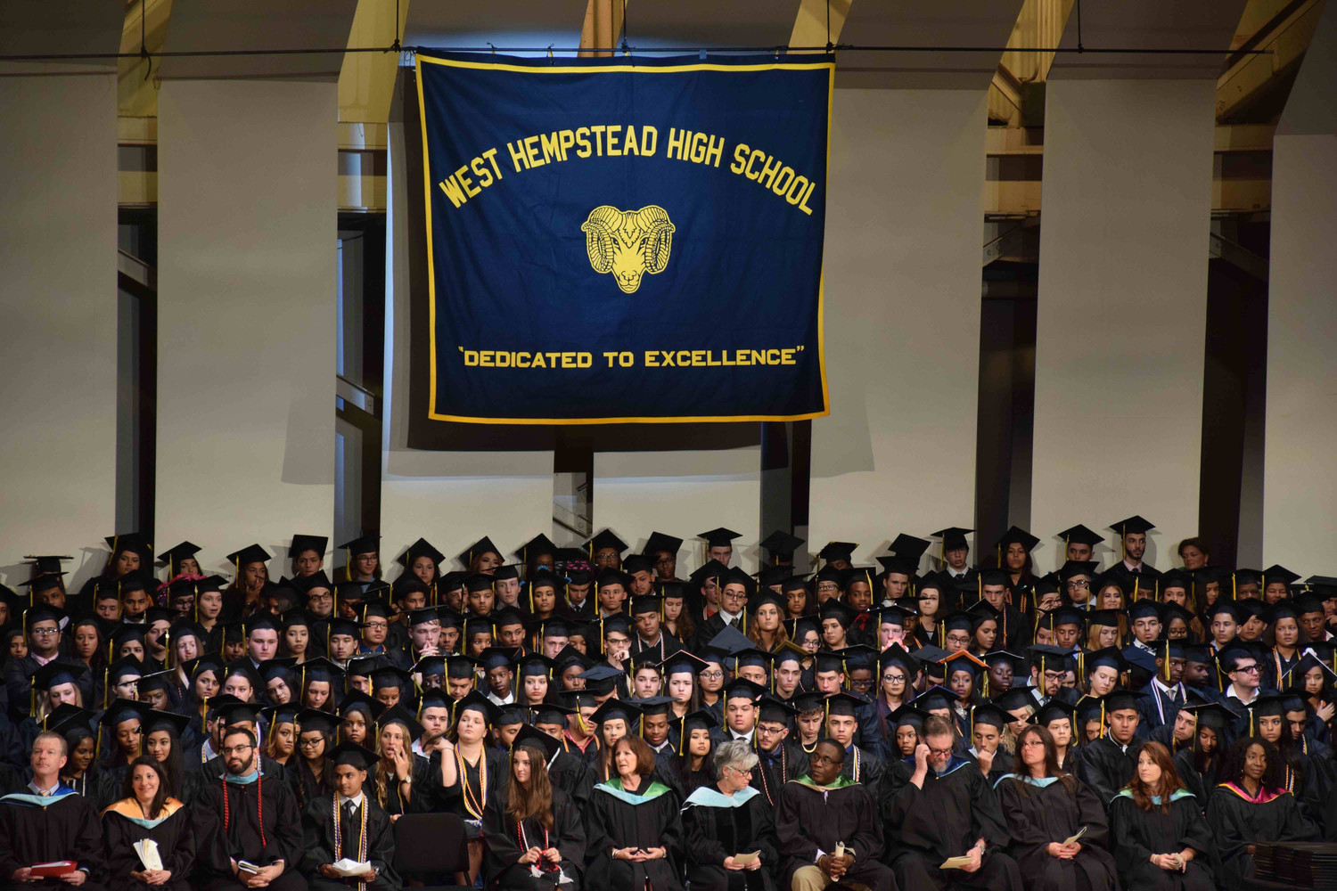 Members of the West Hempstead School District joined the high school's class of 2018 graduation ceremony on June 24.