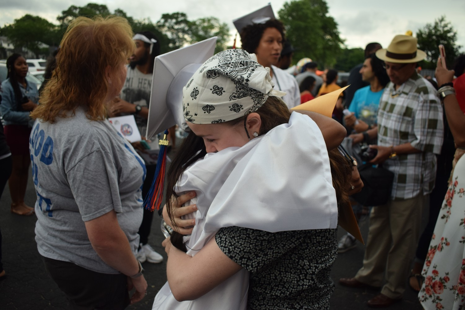 Many hugs were exchanged at this year's graduation ceremony.