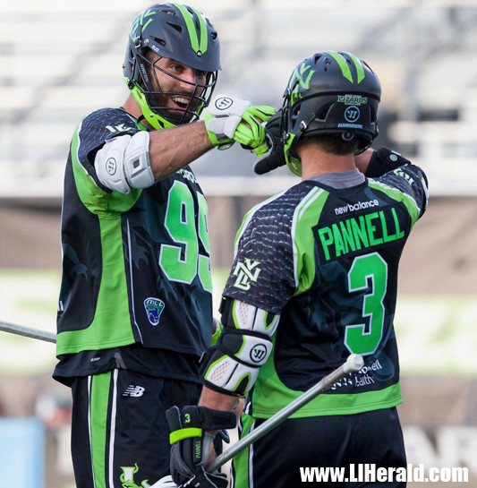 Paul Rabil, left, who became the MLL's all-time leading scorer, and Rob Pannell, who leads the league in points this season, are major keys to the Lizards' title hopes.