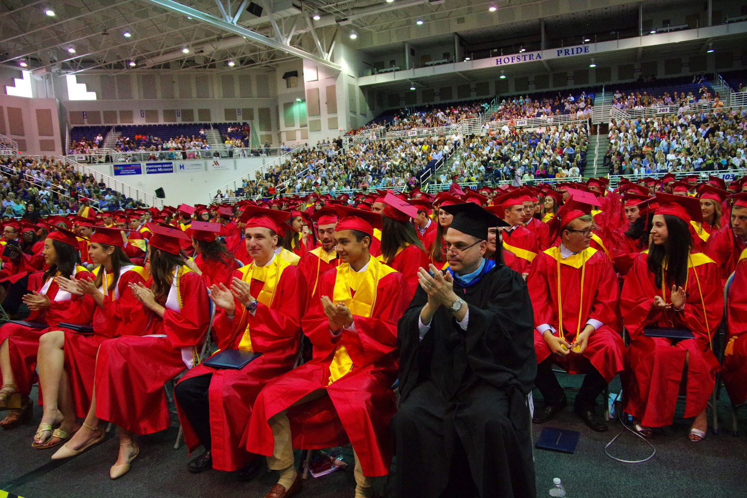 Nearly 300 South Side High School seniors graduated on June 22 at a commencement ceremony at Hofstra University.