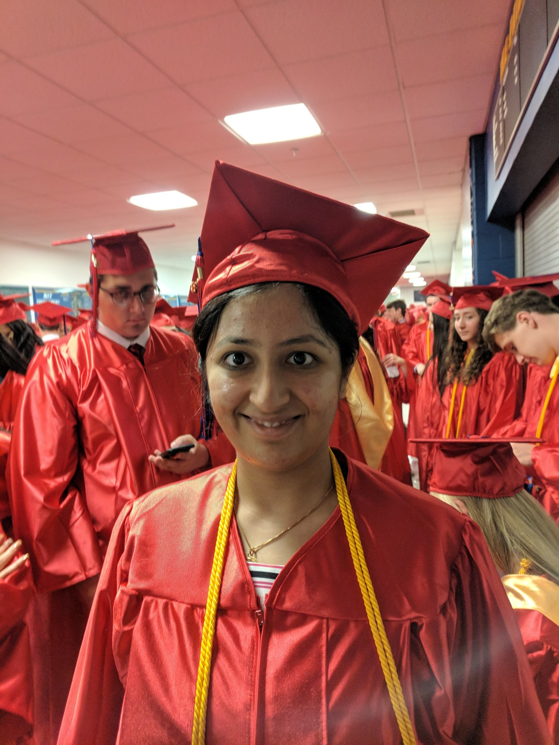 """Whenever I look at my red cap and gown, it will be a great symbol of nostalgia,"" Simran Sood said."