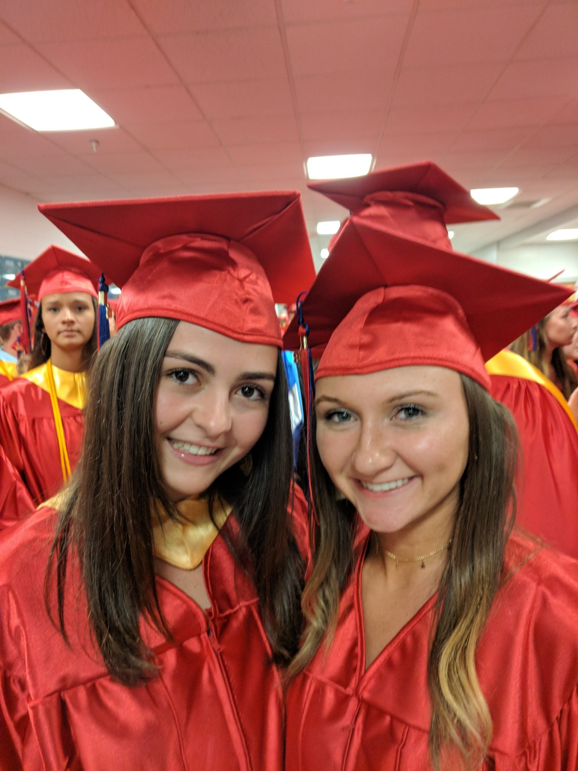 """South Side will always be home,"" Livia Kelly, left, said next to Morgan Kelly."