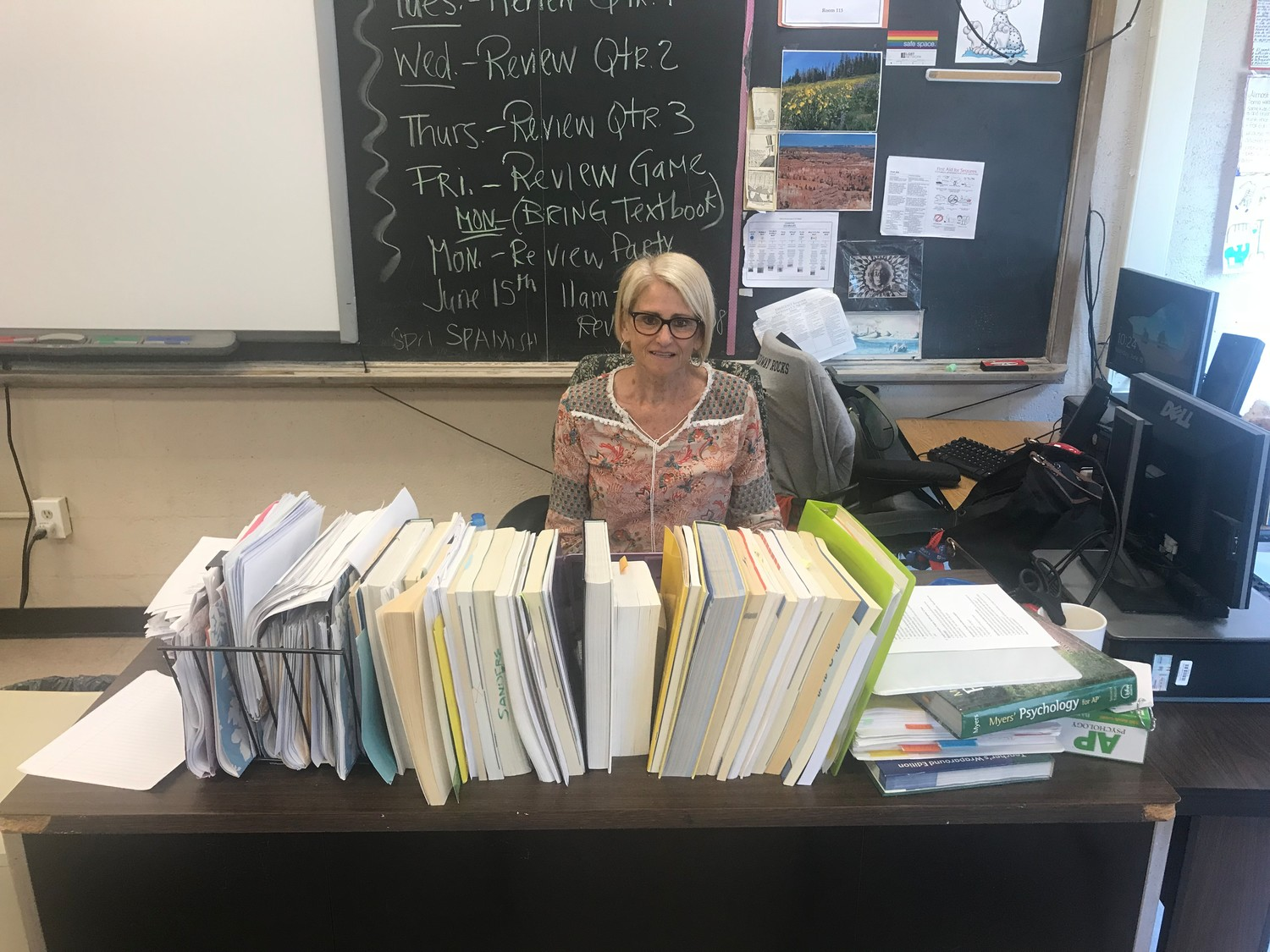 "Longtime East Rockaway Junior-Senior High School teacher Carol Sanders retired at the end of the school year after 30 years in the district. ""She made a lasting impression,"" said former student Amanda Trantel. ""I adored her as a teacher."""