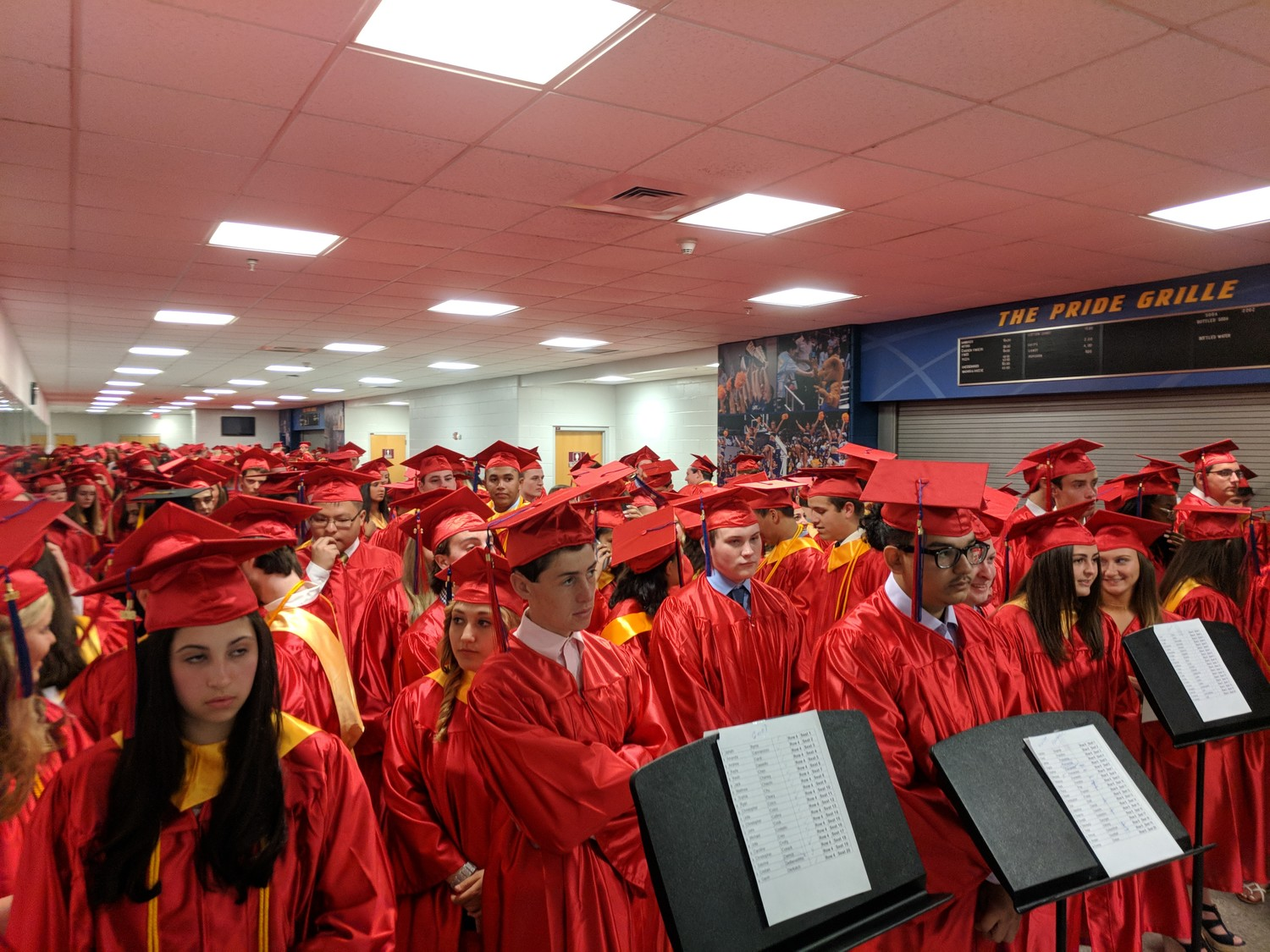 A sea of soon-to-be alumni prepared for their graduation ceremony at Hofstra University on June 22.