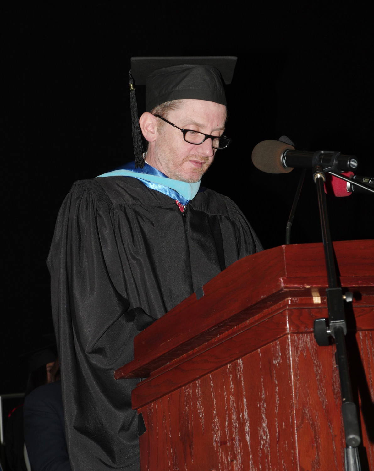 Principal John Murphy, above, wished the senior students the best and added that he would miss them.