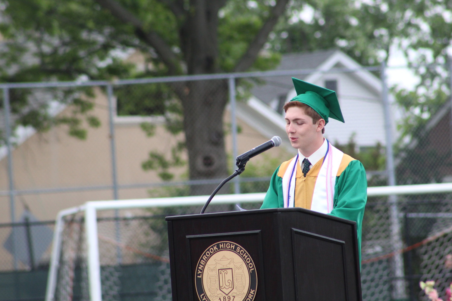 Salutatorian Jack Hunter shared lessons he learned from high school and from the Walt Disney Company movies.