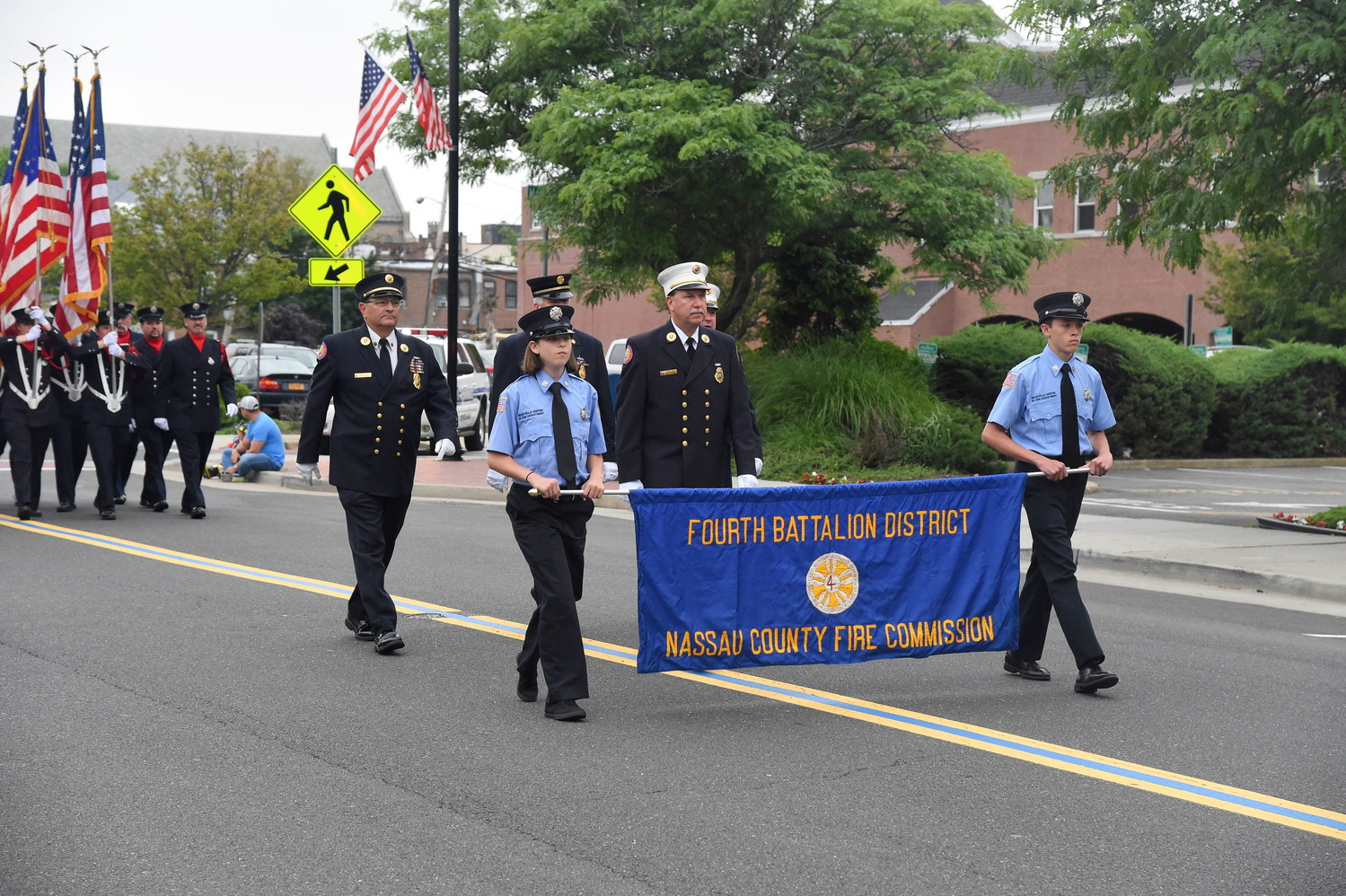 Fire departments in the Fourth Battalion and beyond marched at a parade in Rockville Centre on June 23.