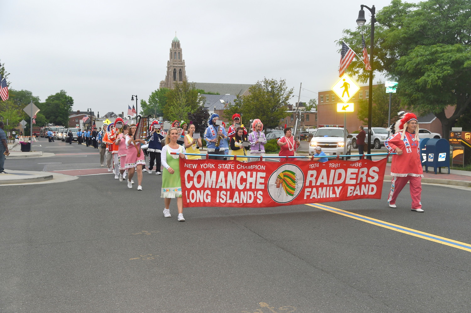 The Comanche Raiders, dubbed Long Island's Family Band, played music.