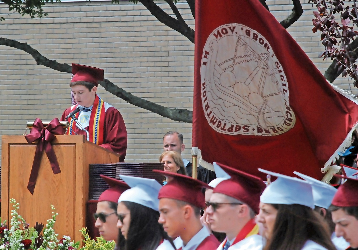 Salutatorian Perry Kleemann addressed his fellow graduates, encouraging them to hold on to the memories they had made in high school.