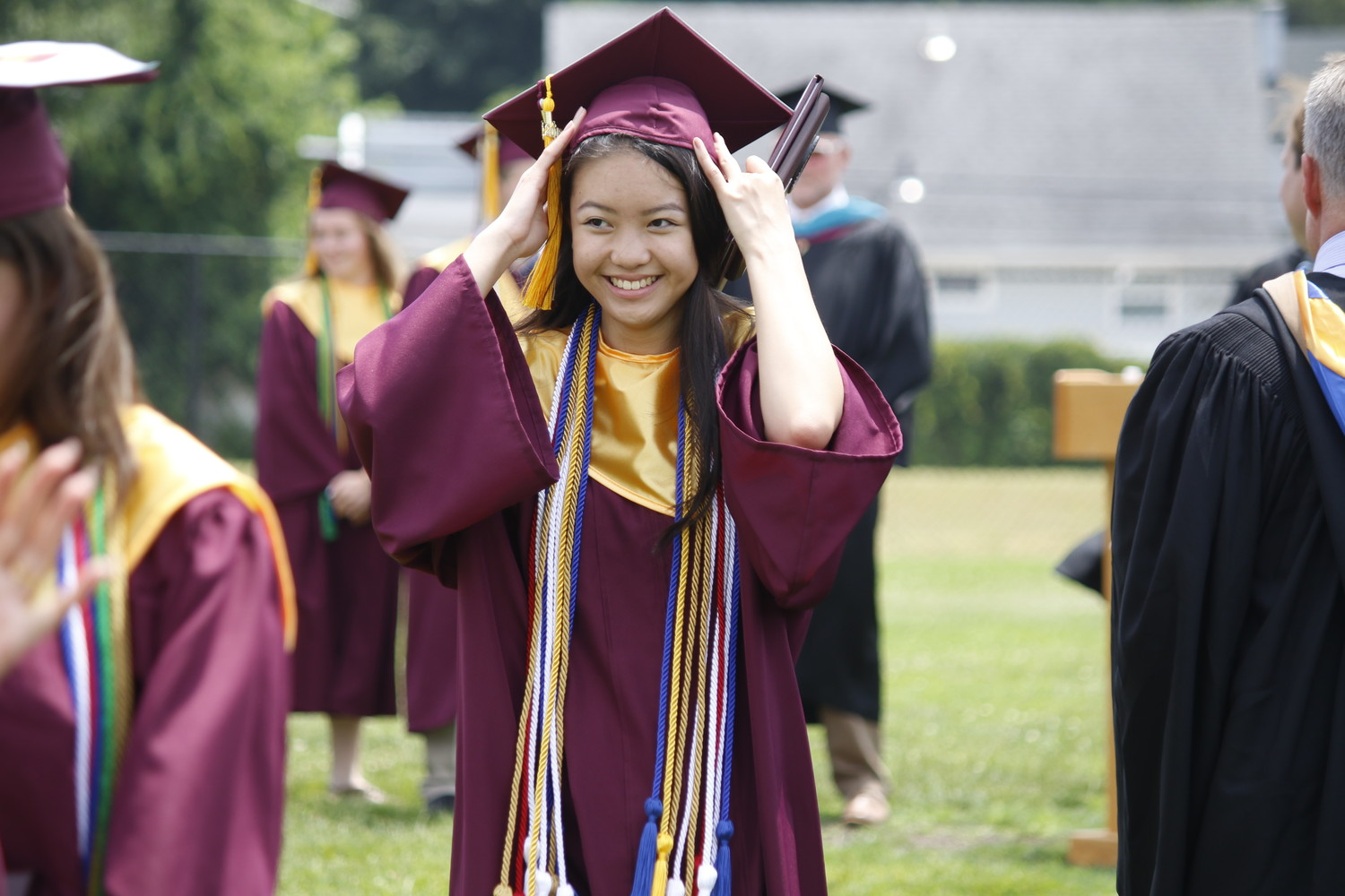 Amanda Britney Chau, a W.T. Clarke High School graduate, earned the President's Award and a Scholar Diploma. She also belonged to the school's English, history, math, music, science and national honor societies.