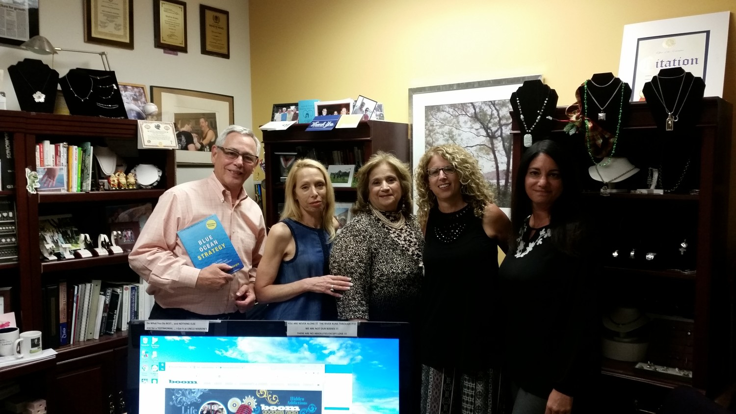 Marvin Soskil, left, Linda Catalano, Valentina Janek, Heidi Shaw and Jacqueline McDermott hope to provide unlimited opportunities for business and social networking through Long Island Gems.