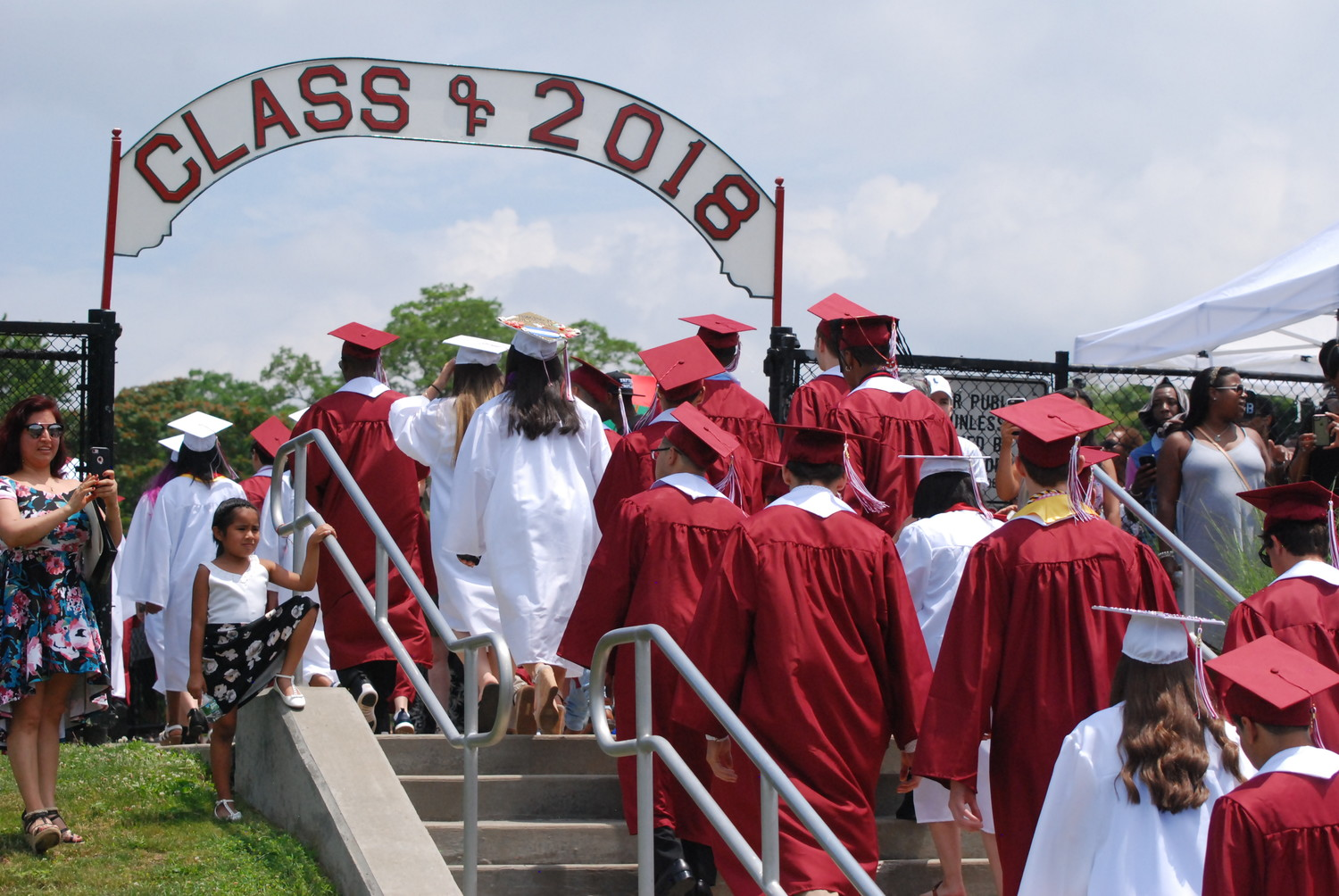 The Class of 2018 marched onto the football field as high school students, but walked off as graduates.