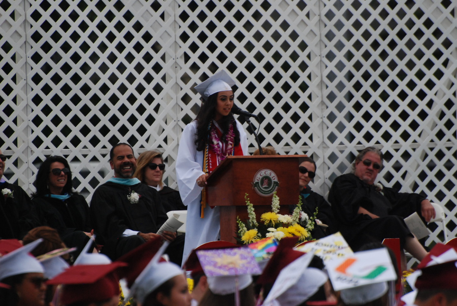 Senior class president Talia Sakhaee reminded her peers how special the four years they spent together had been.