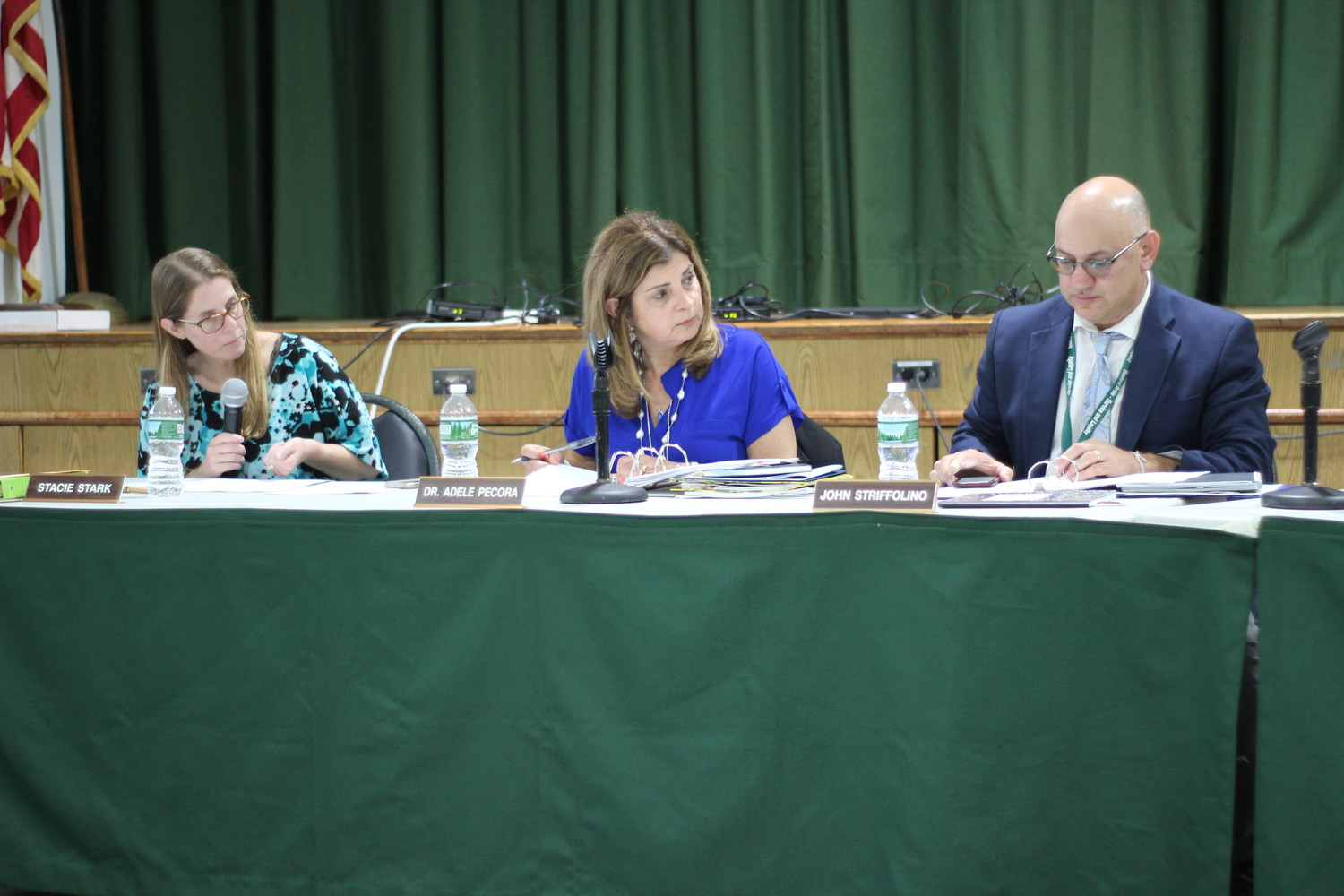 Seaford School District Board of Education member Stacie Stark, Superintendent Dr. Adele Pecora and John Striffolino, the Assistant Superintendent for K-12 Curriculum, Instruction and Personnel, are members of the district's Security Guard Staffing Review Advisory Committee.