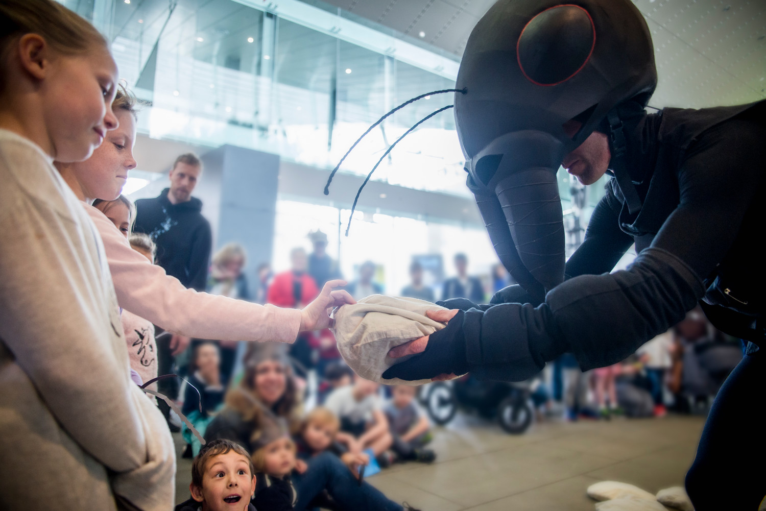 "Children follow a band of roving insects around Long Island Children's Museum when Australia's Polyglot Theatre presents the East Coast premiere of ""Ants."""