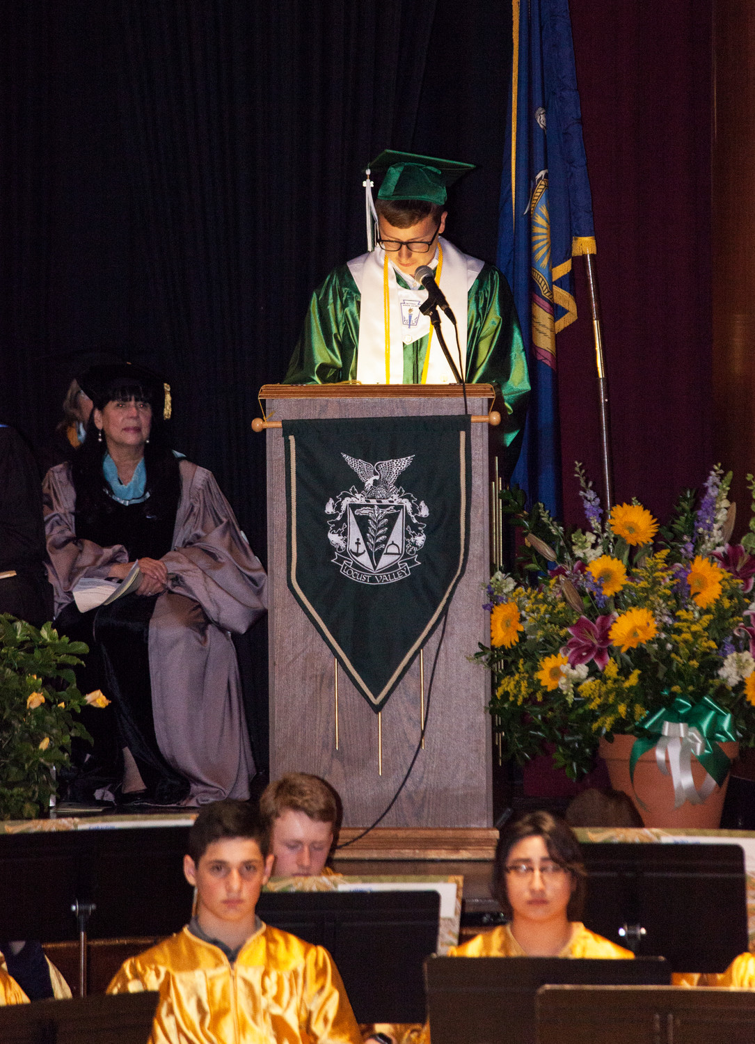 LVHS Valedictorian Nick Chisari spoke from his heart.