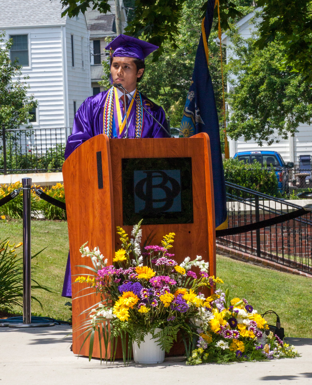 Salutatorian Terrance Cameron left, delivered his speech