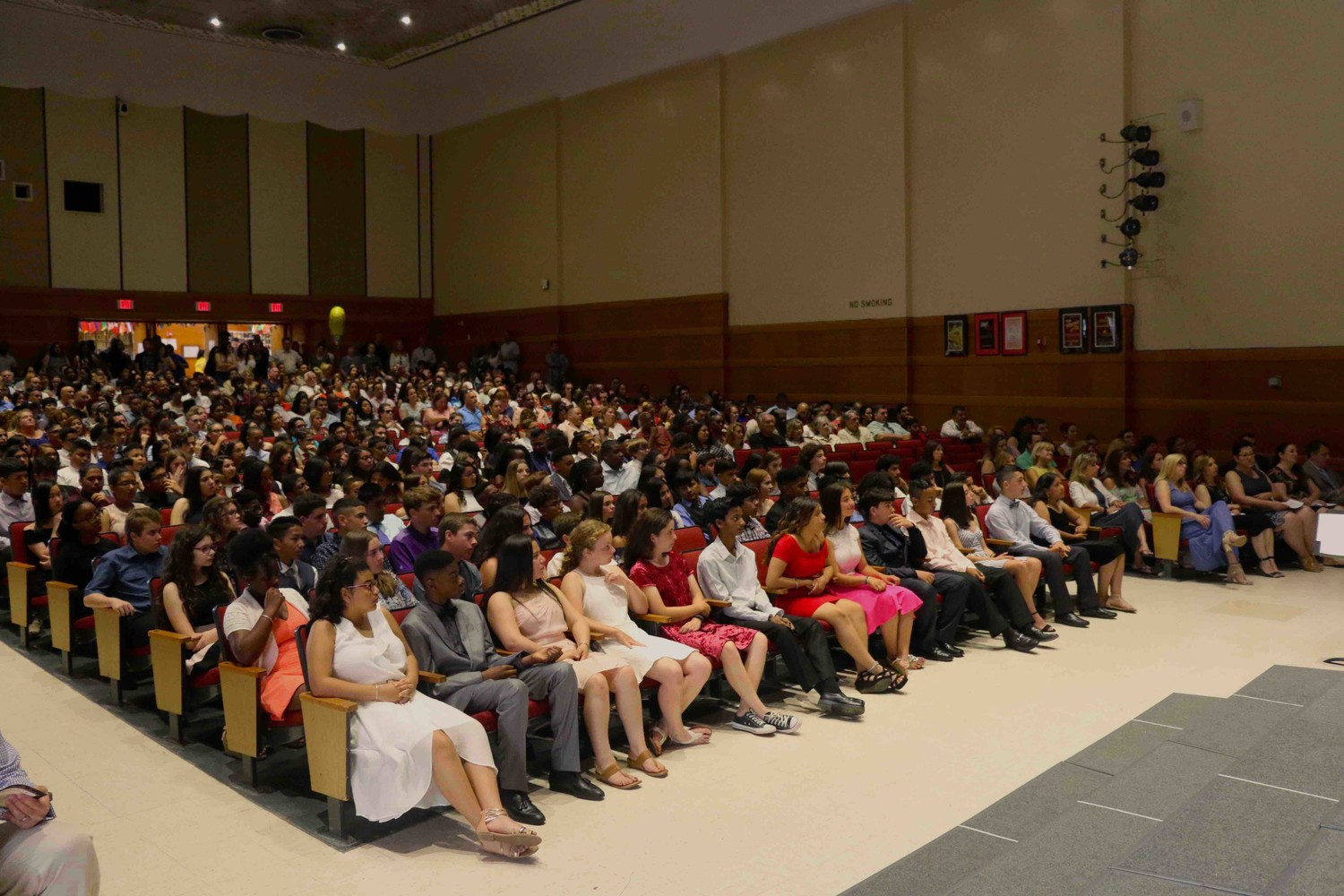 Eighth-grade students from West Hempstead Middle School gathered on the morning of June 22 in the high school's auditorium for a moving up ceremony.