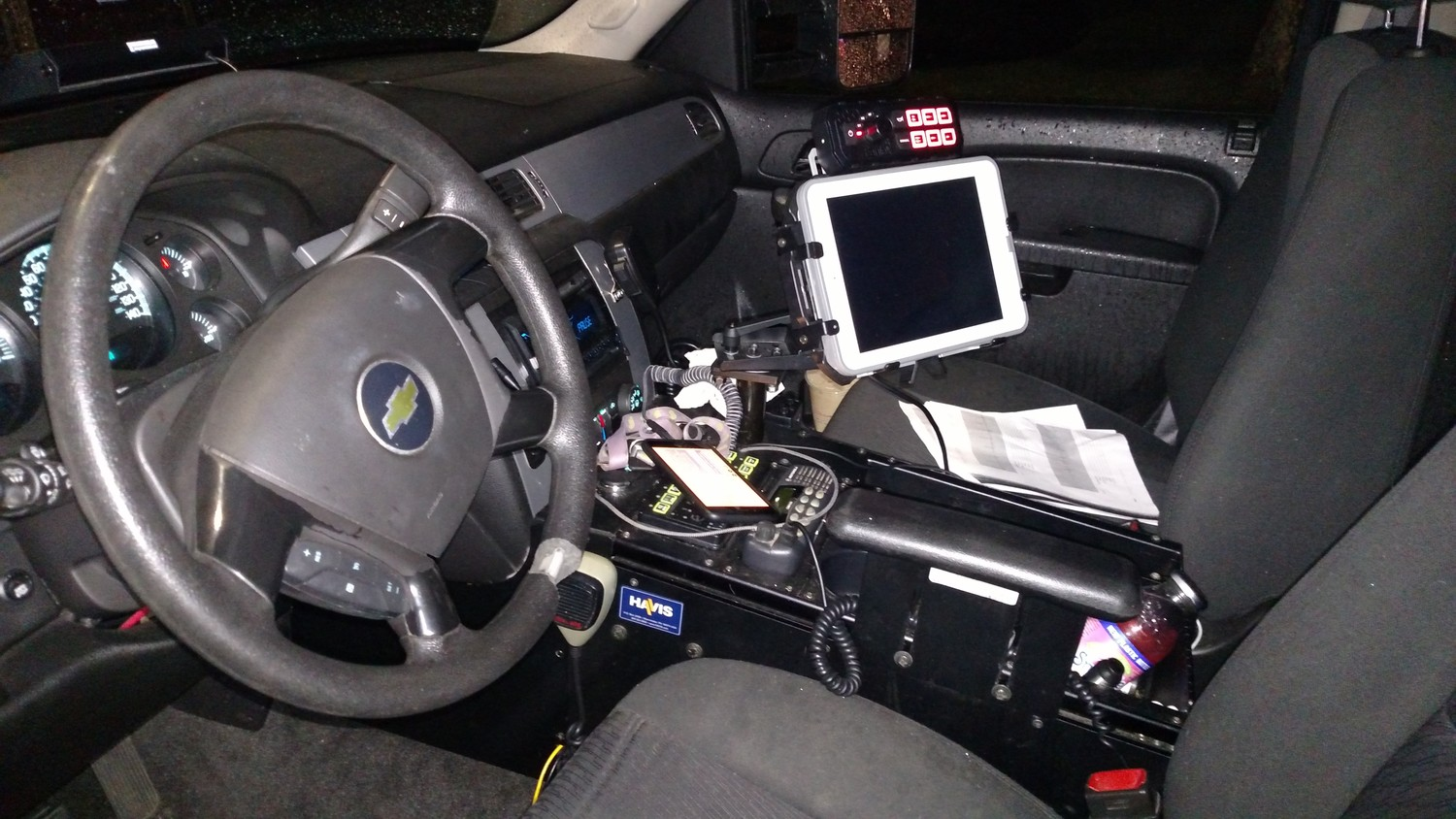 On March 12, Decter was stopped in Seaford while driving his Chevy Tahoe. This was what the interior of his vehicle looked like.