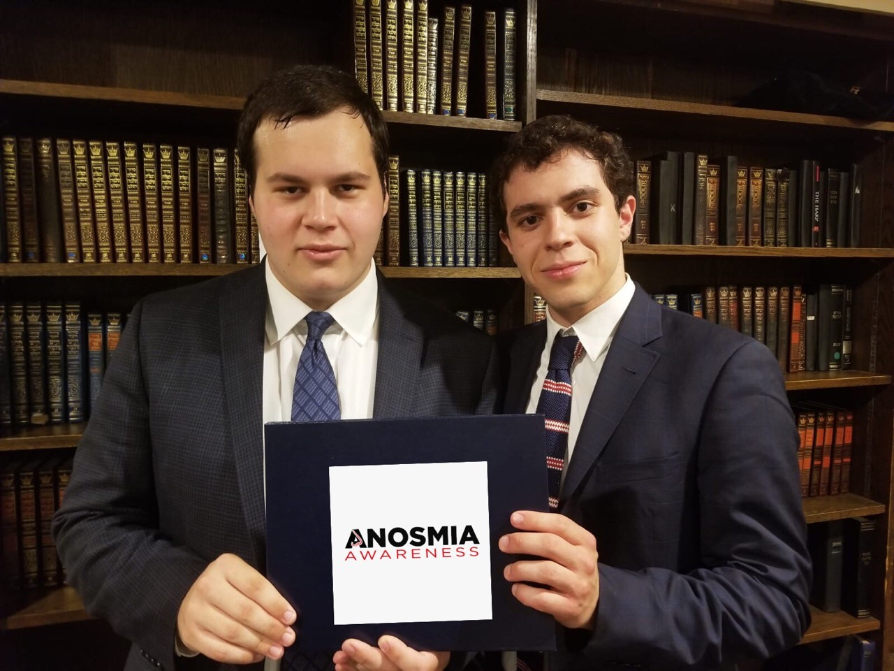 Jonah Loskove, left, and Dubi Fischman, spent their May working to raise awareness of anosmia, the inability to smell.