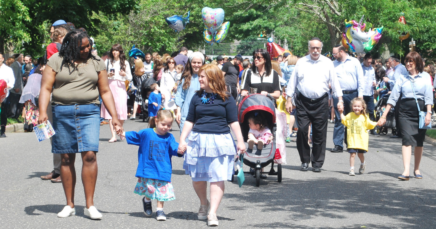 Gan Chamesh students, families and friends formed 