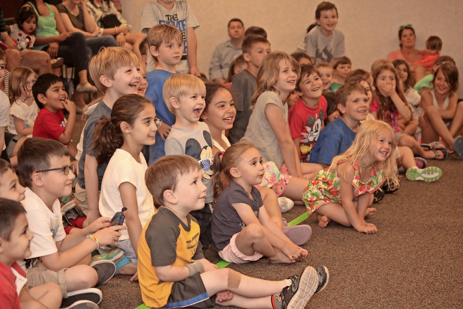 Children were amazed as they watched the Circus Guy perform at the Rockville Centre Public Library on June 25.