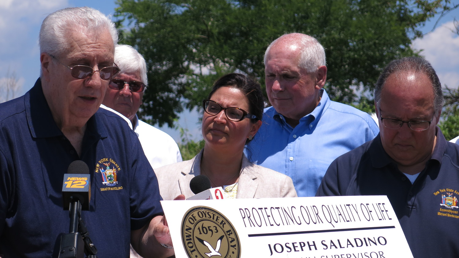 State Senator Carl Marcellino, left, fought hard to stop the tunnel, as did O.B. Town Councilwoman Michele Johnson, and Bayville Trustee John Taylor.