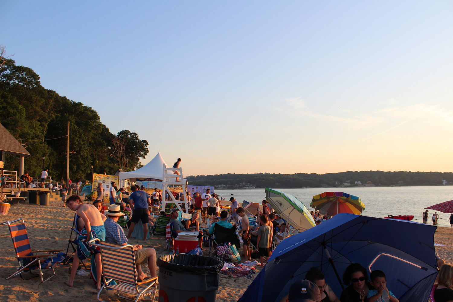 As the day set on BeachFest, residents remained shoreside with their blankets and umbrellas in anticipation for the evening's musical lineup.