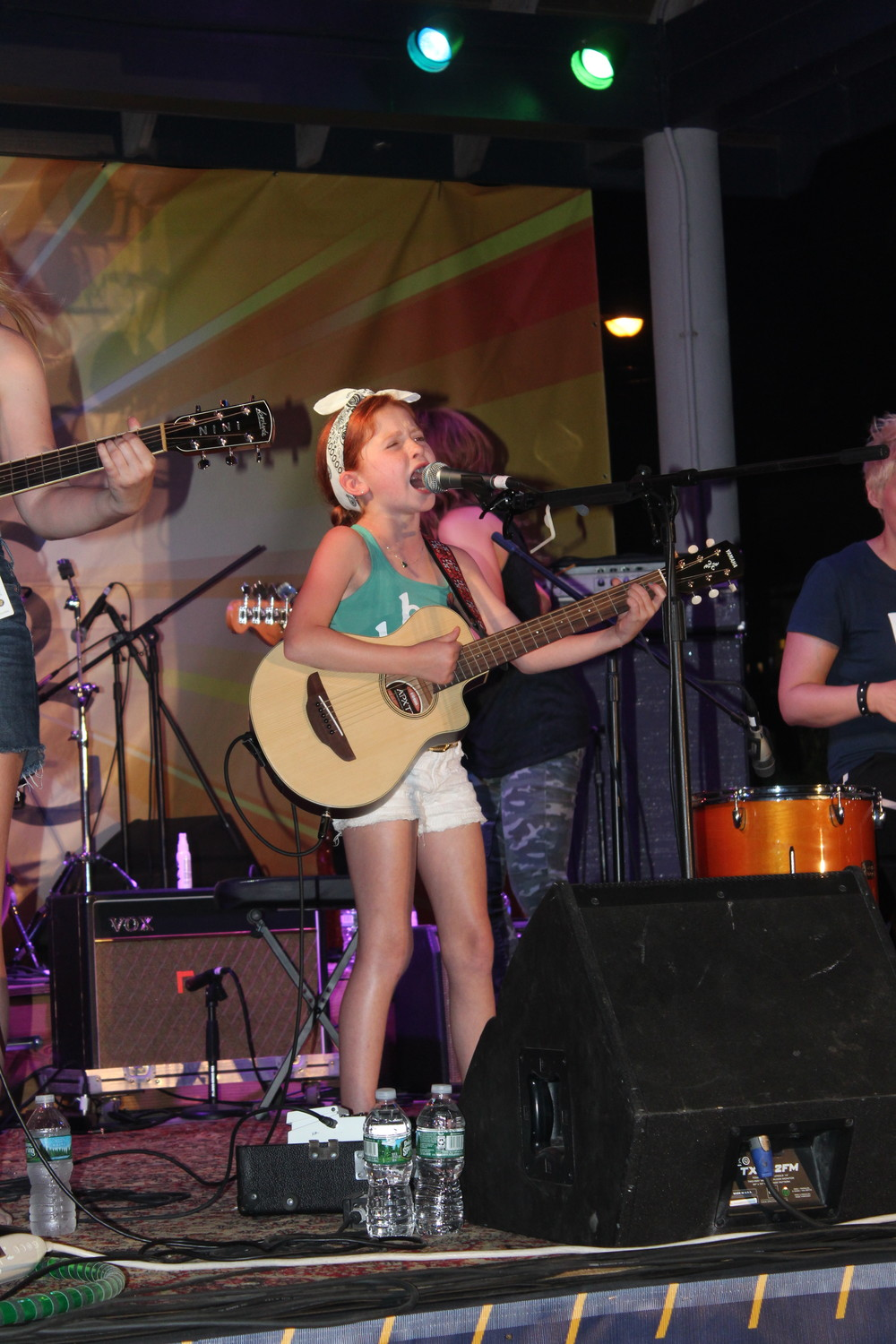 Featured performer Mae Curiale, 10, brought the BeachFest crowd to their feet as she took to the stage.