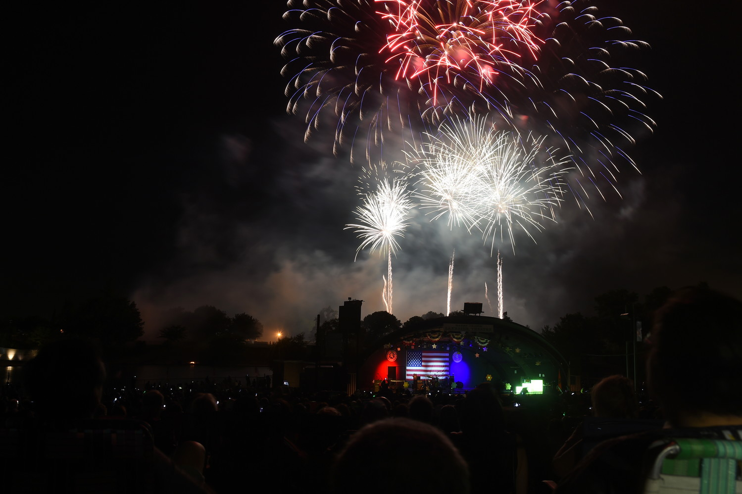 Fireworks lit up the sky above Eisenhower Park's Harry Chapin Lakeside Theater on June 30.